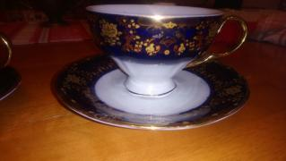 Beautiful tea Cup and saucer with gold designs