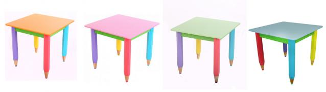 Children's table without pencil case 60cm by 40cm Pencils
