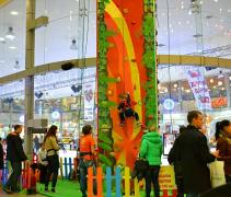Climbing wall attraction