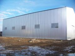 Construction of prefabricated buildings. Installation of steel structures