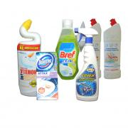 Detergents and cleaning products for bathroom, toilet and plumbing