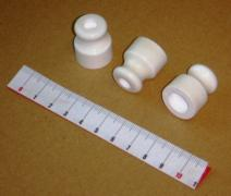 Insulators of ceramic for wall posting - production
