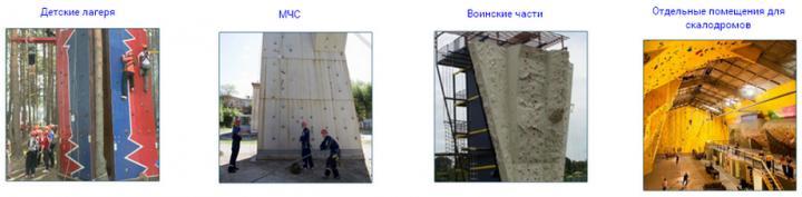 Sports climbing wall
